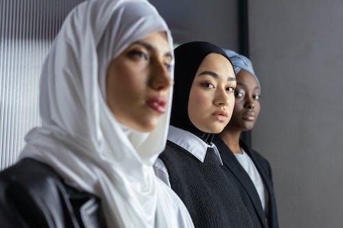 Woman in Black Hijab
