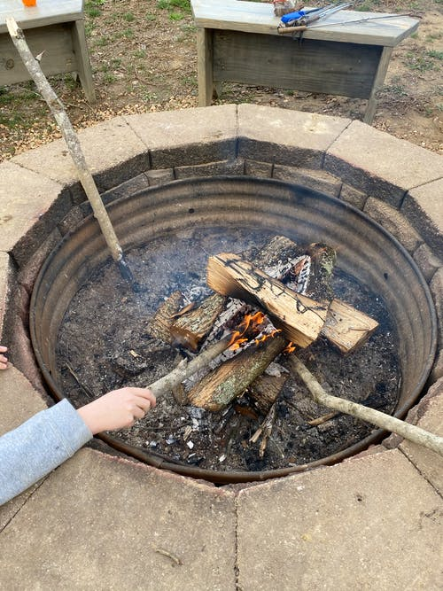Free stock photo of fire, fire pit, fire poker