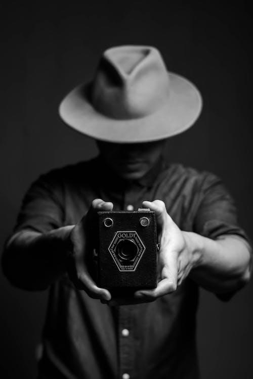 Fedora, 人, 單色 的 免費圖庫相片