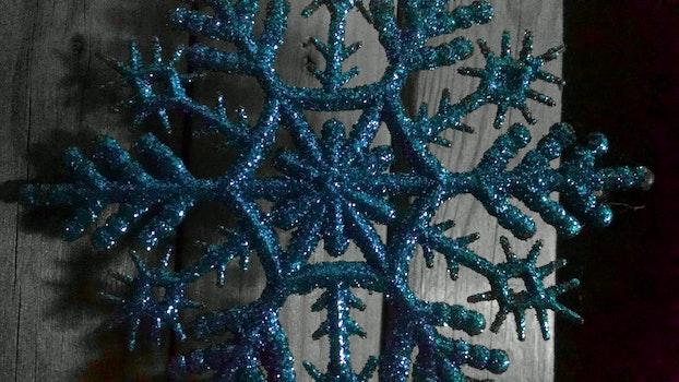 Free stock photo of night, decoration, snowflake, theme still-life