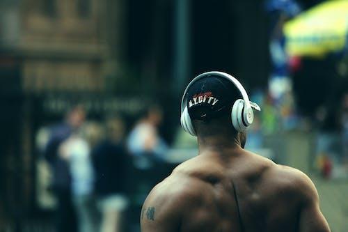 남자, 듣다, 리듬, 사람의 무료 스톡 사진