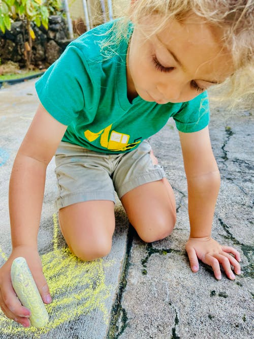 Free stock photo of chalk, cute kids, sidewalk