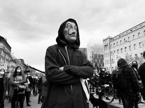 Free stock photo of anonymous, demonstrator, prague