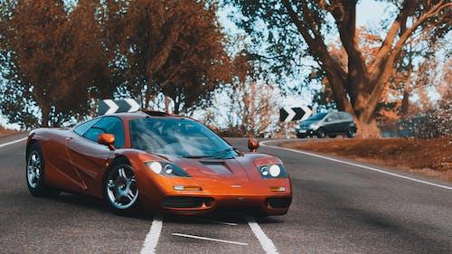 Orange Lamborghini Aventador on Road