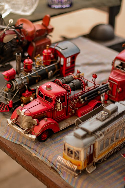 Red and Brown Train Toy