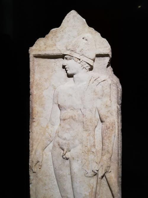 Foto d'estoc gratuïta de estàtua grega, fons negre, formigó