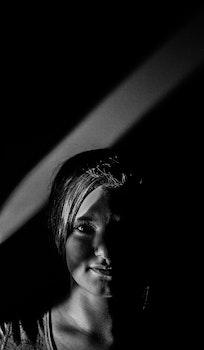 Free stock photo of portrait, canon, black and-white