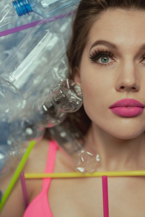 Woman in Pink Lipstick