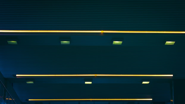 Free stock photo of lights, roof, airport, stripes