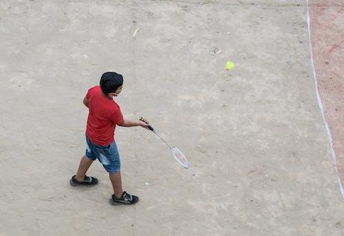 Free stock photo of boy playing badminton, corona, Covid19 protection