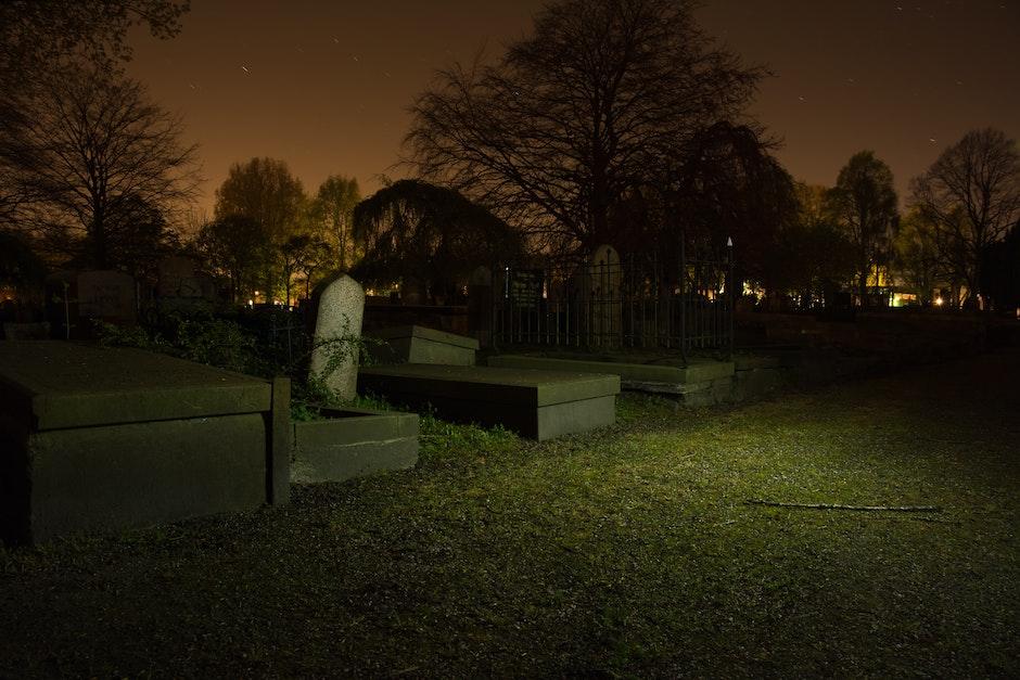 burial, cemetery, dark