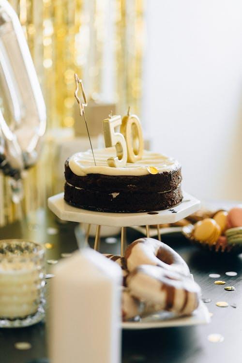 Chocolate Cake on White Tray