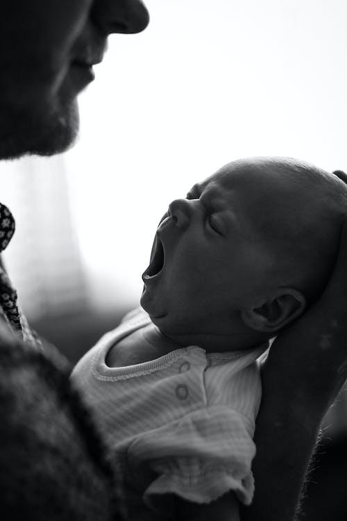 Ingyenes stockfotó a szája kinyílt, álmos, anyaság témában
