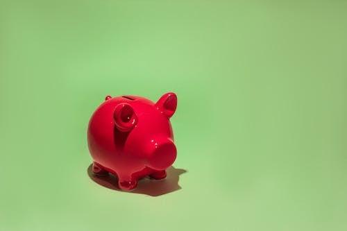 Close-Up Photo of Pink Piggy Bank