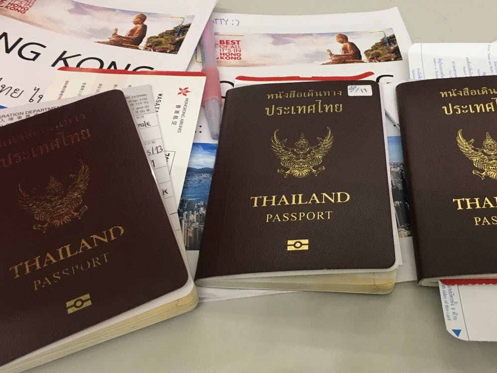 Free stock photo of passport, thailand