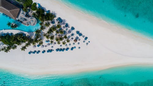 Foto profissional grátis de à beira-mar, aéreo, água