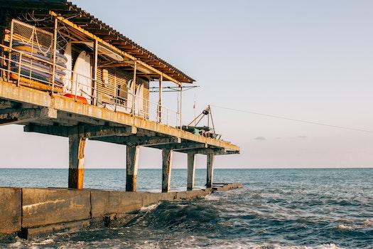 Brown Building On Sea