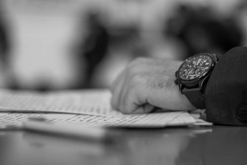 Free stock photo of debate, paper, watch, write