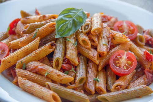 Penne Pasta With Tomato Sauce and Basil
