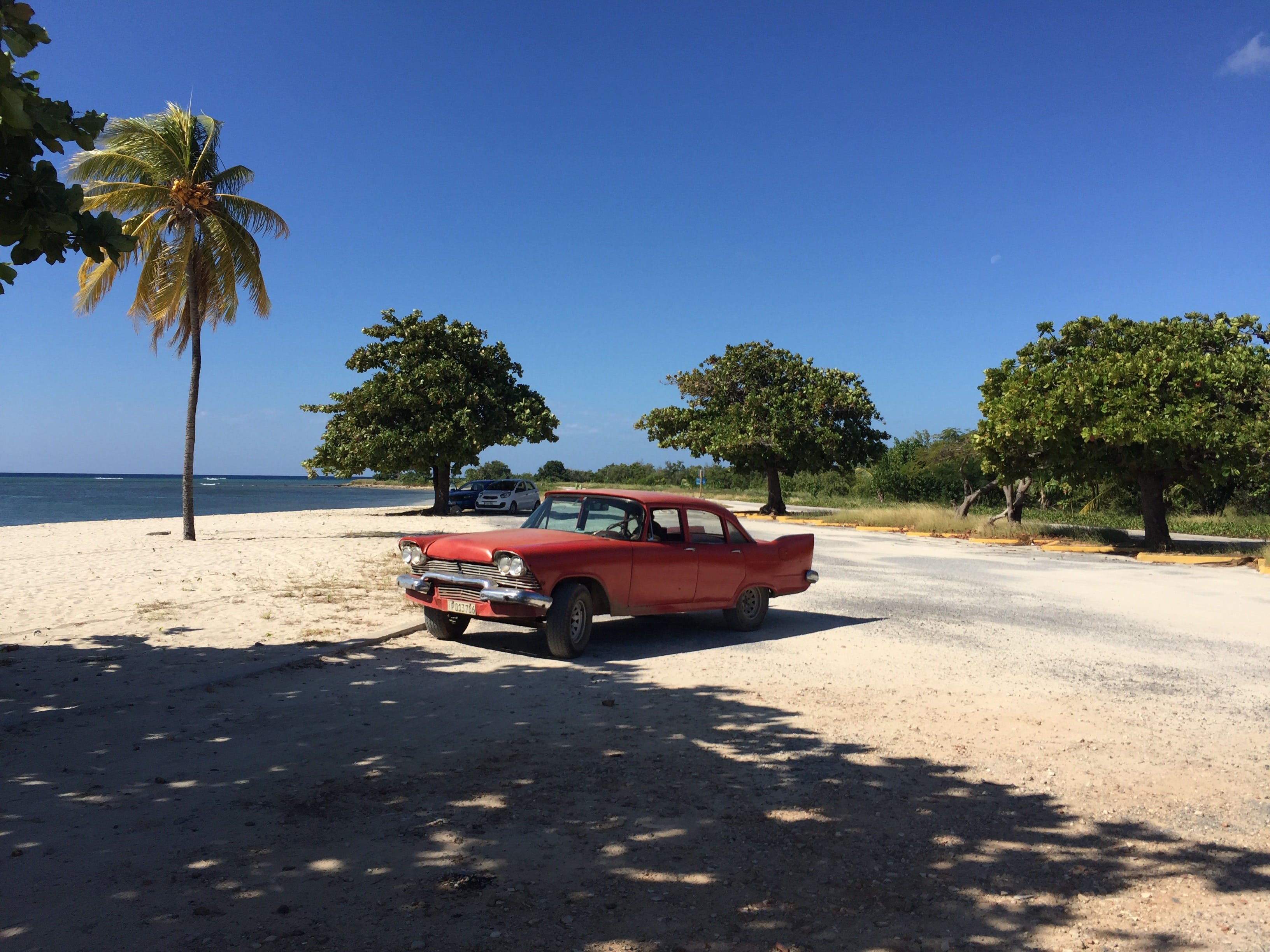 Free stock photo of beach, car, cuba, holidays