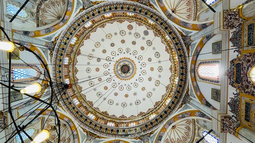 Low Angle Shot of Dome Ceiling