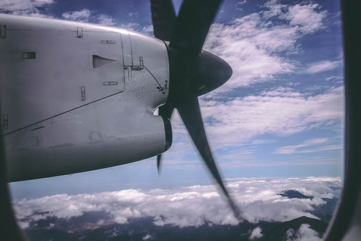 Areal Photography of Airplane Engine