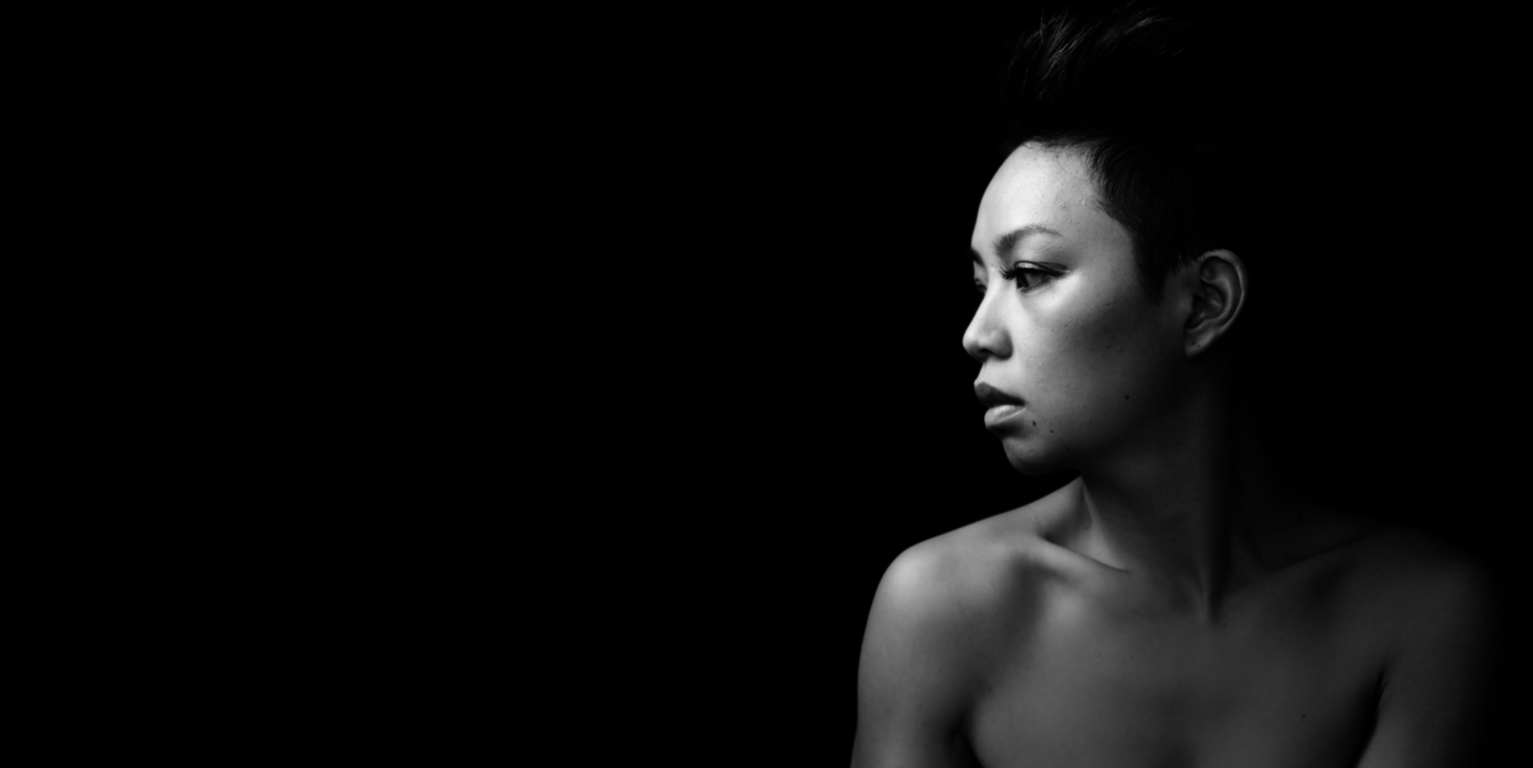 Nude Woman In Grayscale Photography