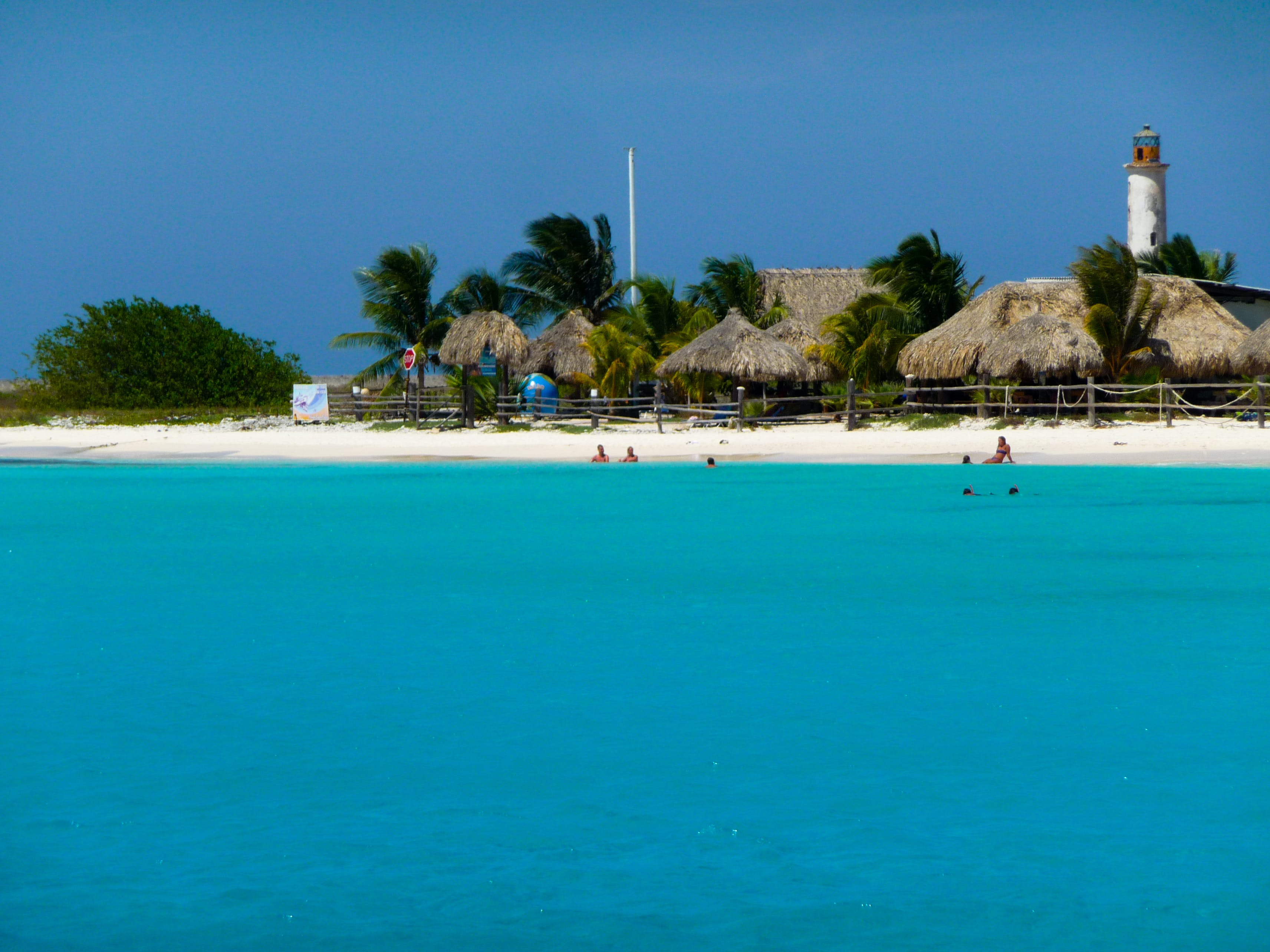 People Swimming in Beach Resort