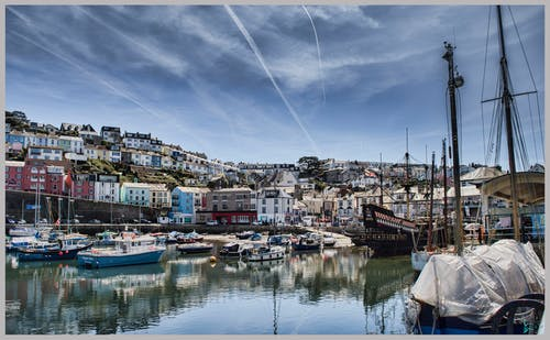 Free stock photo of boats, brixham, golden hind, harbour