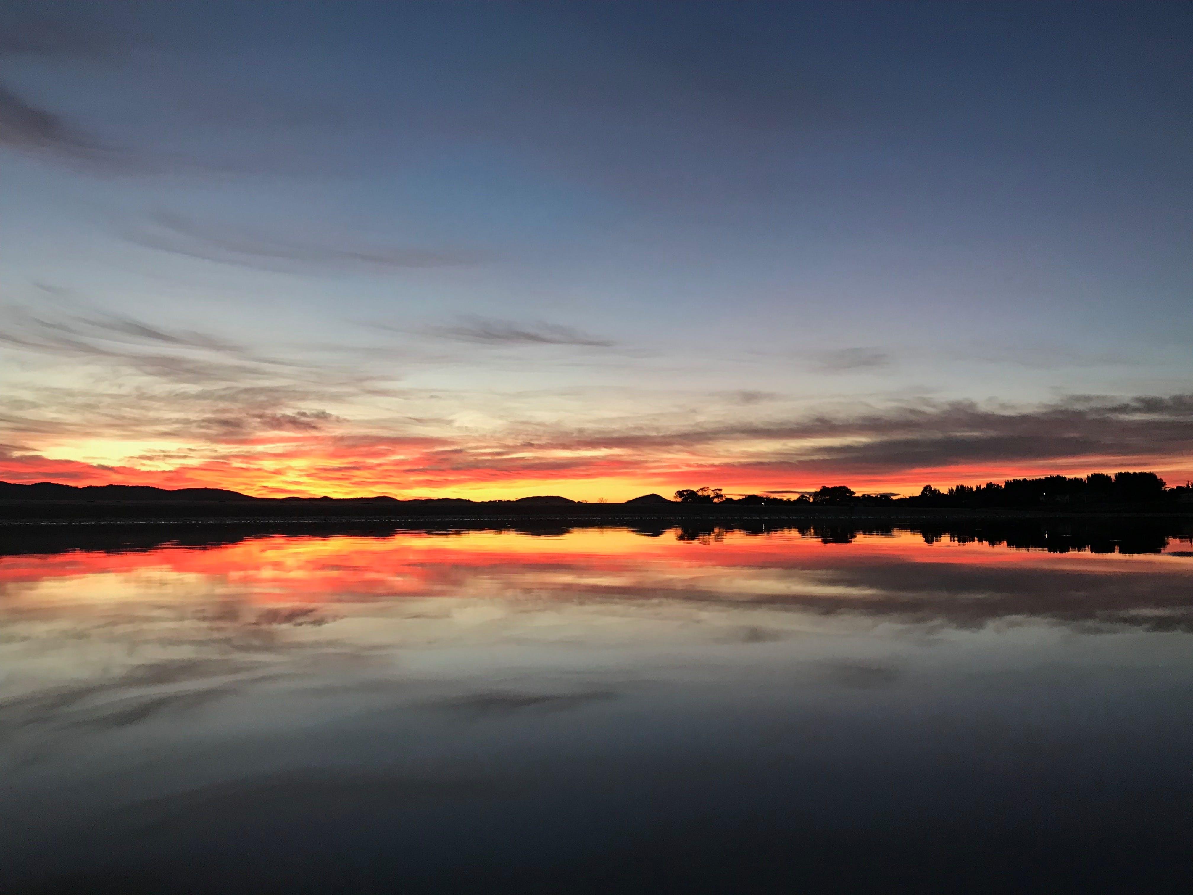 Free stock photo of reflections, sunrise