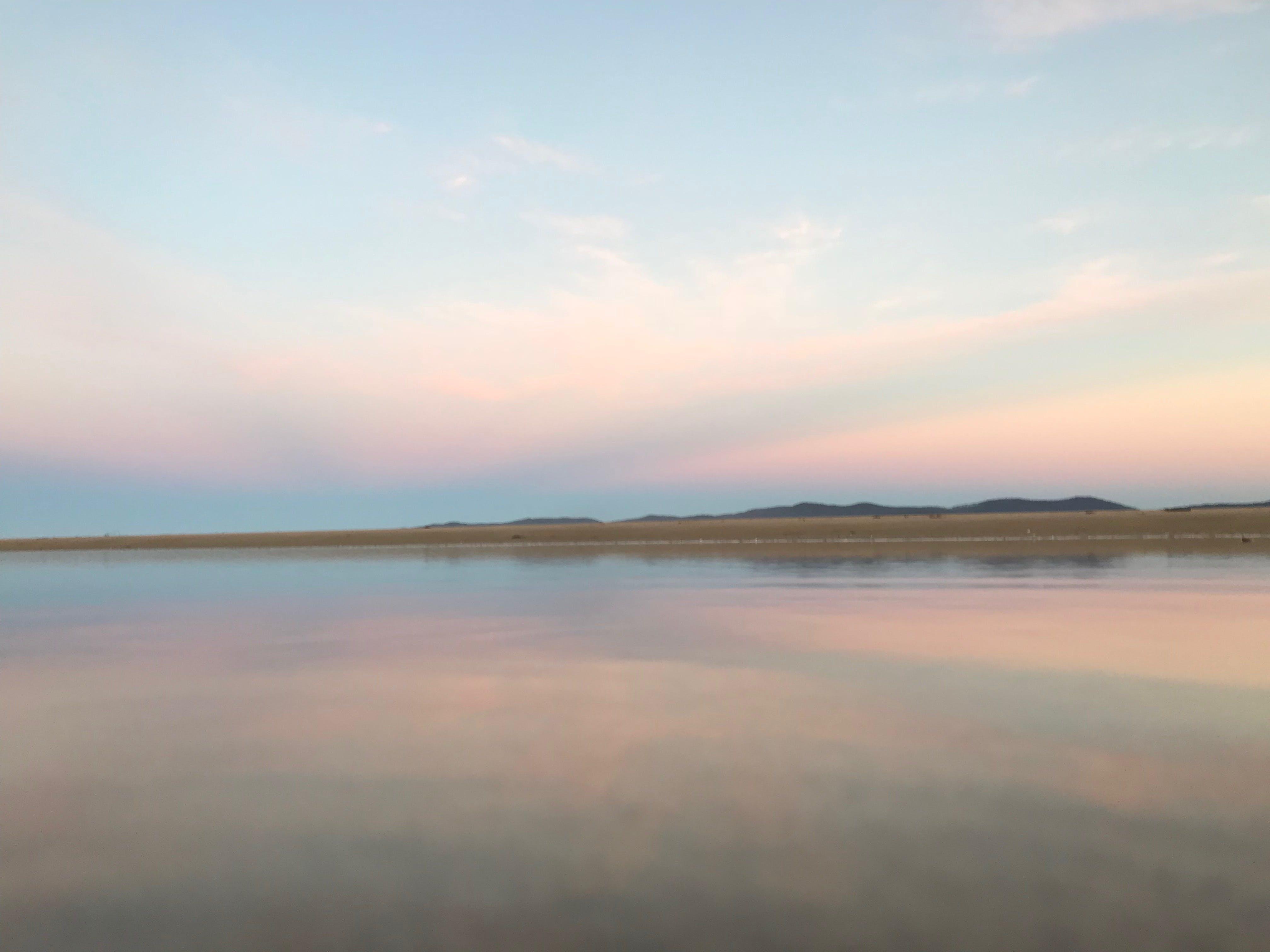 Free stock photo of reflections, sunset