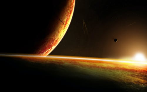 Free stock photo of Adobe Photoshop, digital art, outer space, planet