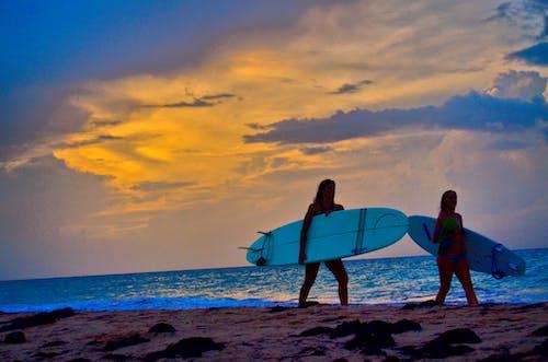Darmowe zdjęcie z galerii z dziewczyny surferów, fale, karaibski, lato