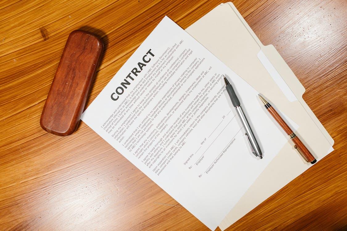 Foto stok gratis dokumen, kesepakatan, kontrak