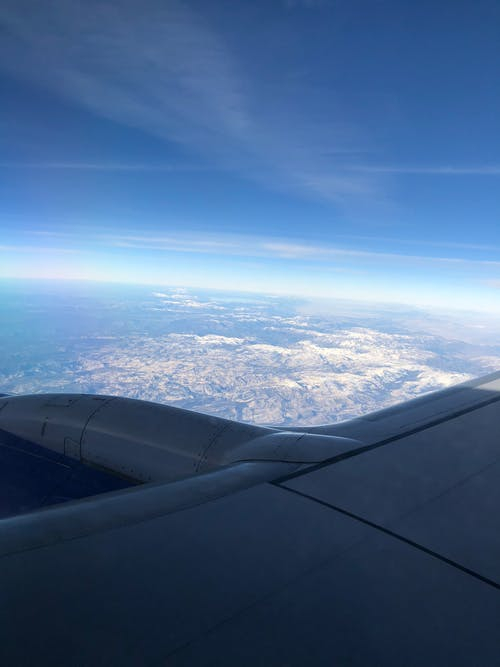 Free stock photo of aerial view, airplane, altitude, bird's eye view
