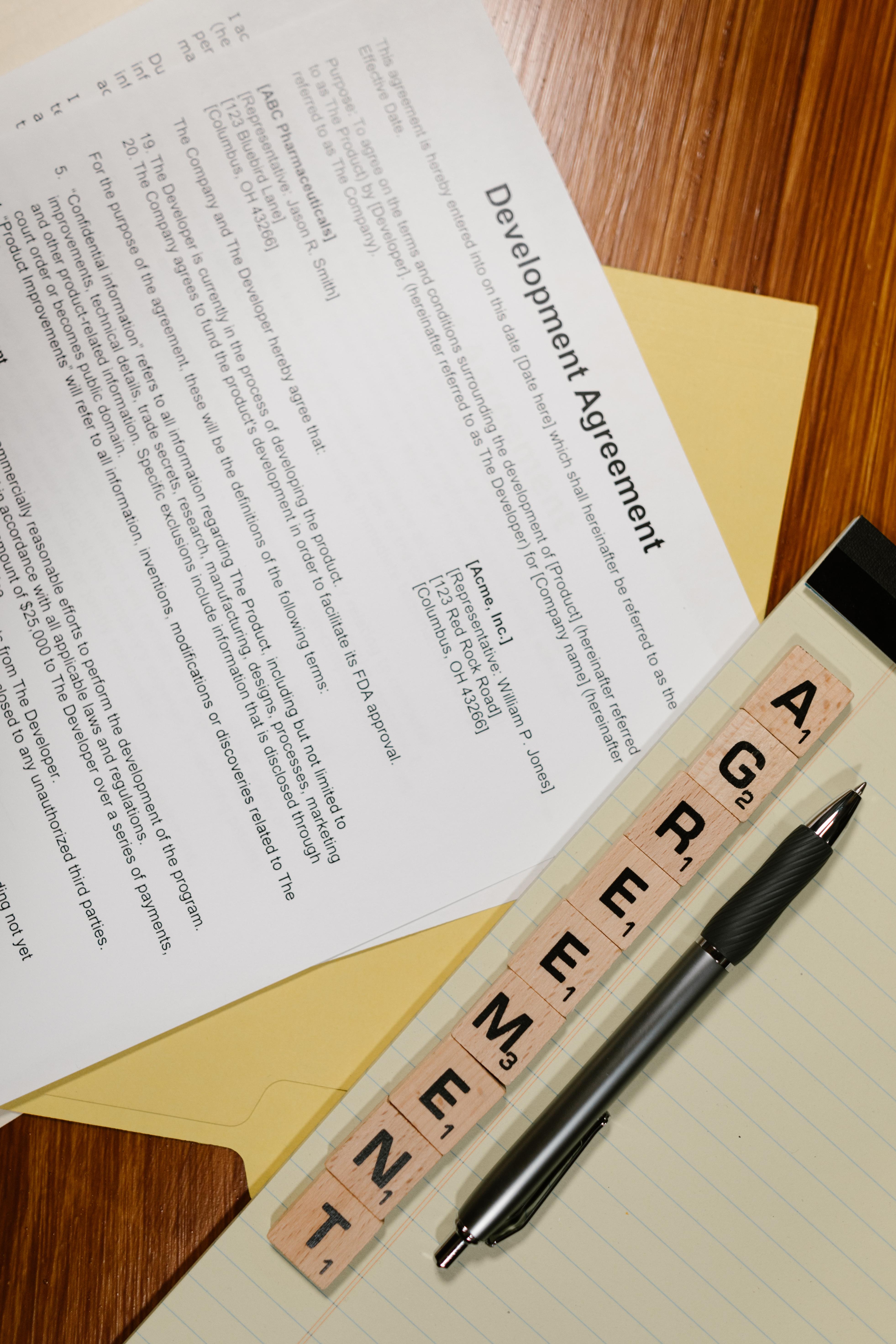 writing business money document