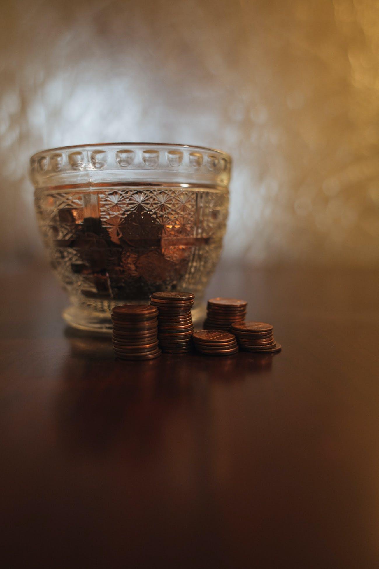 Free stock photo of money, coins, jar, theme minimalism