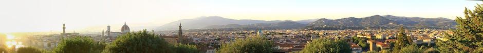 Panoramic shot of city