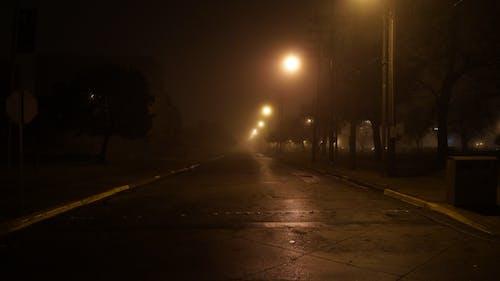 Gratis lagerfoto af fugtig, gade, lang, mørk