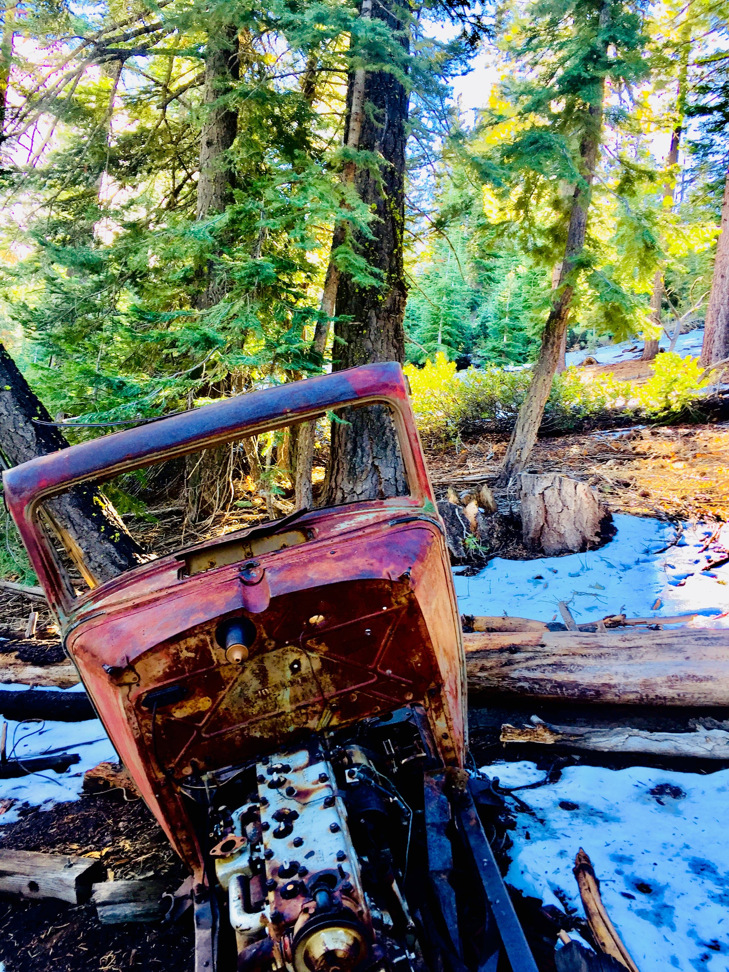 Free stock photo of Old ford in the forest, Sierra Nevada mountains