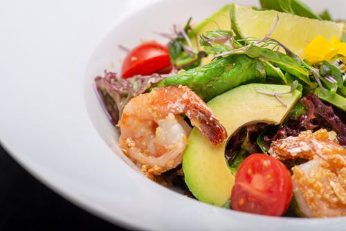 Foto profissional grátis de abacate, alface, alimento