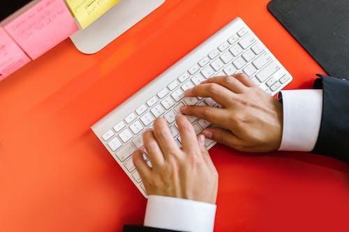 Foto stok gratis alat, Jeruk, keyboard