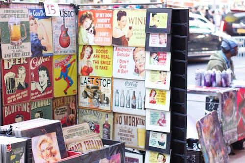 复古广告, 复古海报, 復古收藏, 紐約 的 免费素材照片