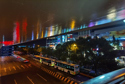 Бесплатное стоковое фото с ночной город, ночь