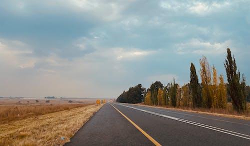 Photos gratuites de autoroute, ciel bleu, route