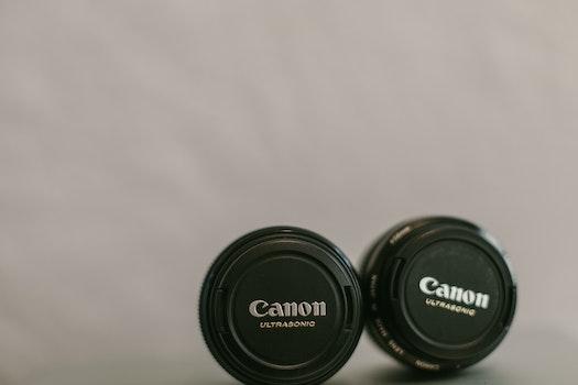 Free stock photo of lens, canon, lens cap