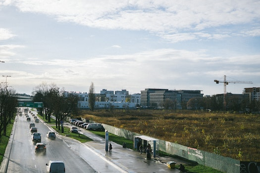 Free stock photo of cars, traffic, sky, people