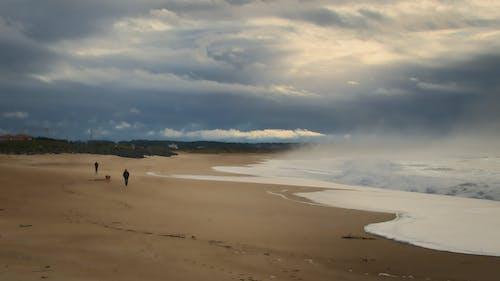 Immagine gratuita di cielo nuvoloso, mare, oceano, persone