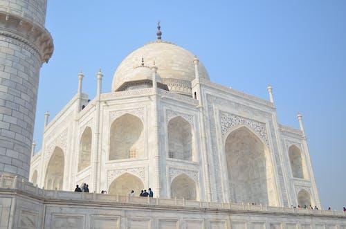 Low Angle Shot of Taj Mahal