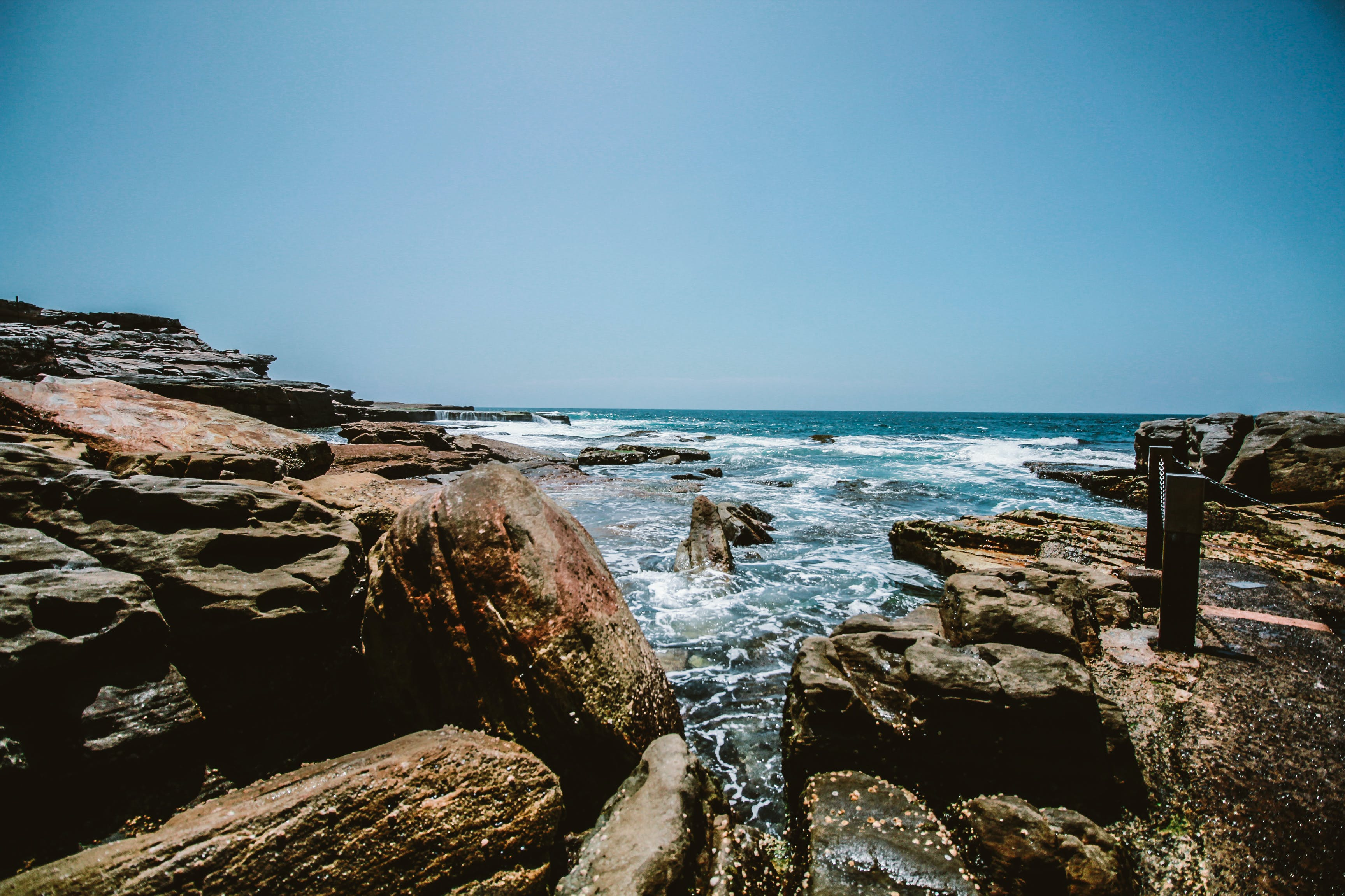 Rocks Near By The Ocean